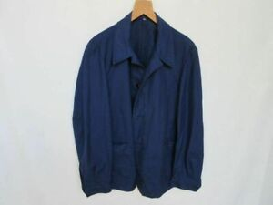 Indigo Blue Worker Jacket French Style True Vintage Jacke 50er Heritage Mechanic