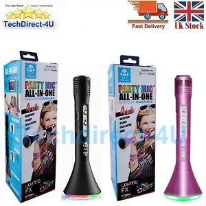 iDance Bluetooth Karaoke Microphone Speaker With Flashing LED Lights Kids Gift