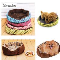 Pet Dog Cat Bed Soft Fleece Winter Warm House Cushion Nest Pad Kennel Blanket