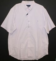 Polo Ralph Lauren Big Tall Mens Pink White Check S/S Button-Front Shirt NWT 2XLT