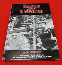 WW2 UNIT HISTORY 2 1 & 2 14 FIELD COMPANY - MAKER AND BREAKER  BOOK BY J GROVER
