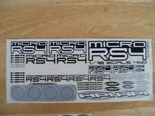 Brand New Hpi Micro Rs4 Decal sheet