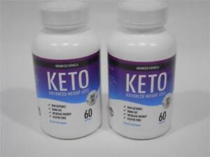 KETO Advanced Weight Loss 800Mg Fat Burner 120 Capsules BHB Ketones Gluten Free
