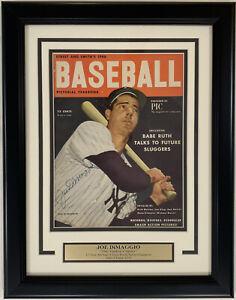 Joe DiMaggio Signed 1948 STREET & SMITH'S Baseball Magazine FRAMED - JSA LOA