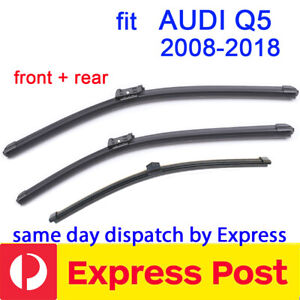 Windscreen Wiper blades for Audi Q5 2008 - 2018 front + rear