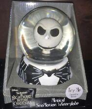Disney Nightmare Before Christmas Jack Musical Halloween Decor Snow Water Globe
