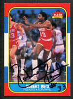 Robert Reid #90 signed autograph auto 1986-87 Fleer Basketball Trading Card