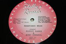 "Sluggy Ranks, Bobo General ""my time"", ""resistance weak"" 12"" LP 1990 EX"