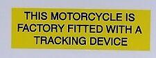 El seguimiento de seguridad contra robos de aviso de advertencia Cuidado con la etiqueta engomada