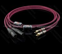 1pair 4core OFC RCA to XLR male Audio Interconnect balanced cable cord Φ6.5mm