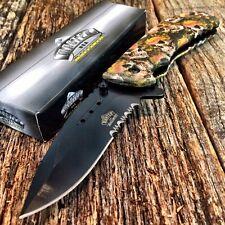 "Master Ballistic 8"" Tactical Spring Assist Open Pocket Knife Skull Camo Bright-F"