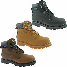 GRAFTERS STEEL TOE SAFETY WORK BOOTS SIZE UK 3 - 14 BLACK BROWN HONEY M538 KD