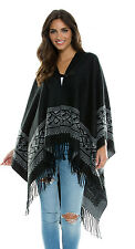 Elan Aztec Border Sweater Blanket One Size
