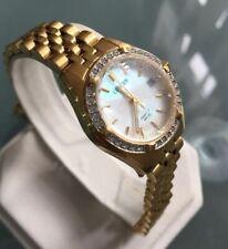 Ladies Genuine Citizen Gold datejust Jubilee Crystals Mop Designer Watch