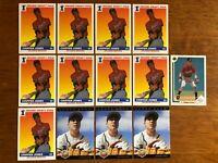 Lot of (13) 1991 1993 Upper Deck Score CHIPPER JONES Atlanta Braves Rookie Cards