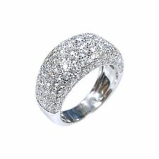 Pave Set With 133 Round Brilliant Cut 2.55CT Cubic Zirconia Real 925 Silver Ring