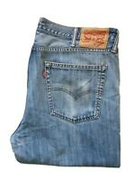 LEVI'S 514 JEANS WASHED BLUE DENIM REGULAR FIT STRAIGHT LEG SIZE W38 L34 RRP £95