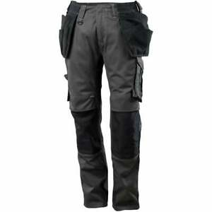 MASCOT Work Pants 17631 Unique Trousers- Anthracite Black- Knee Pads Work Wear