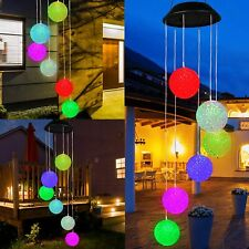 New listing Solar Color Changing Led Ball Wind Chimes Home Garden Yard Decor Light Lamp Usa