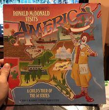 McDonalds Ronald McDonald Visits America Full Color Book & Record Set 1980