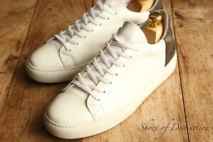 Belstaff White Patent Leather Shoes Trainers Sneakers UK 7 EU 41 US 8
