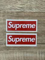 x2 STICKERS SUPREME -  3x9cm - red box vinyl autocollant decal bogo box logo