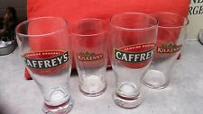 SET OF FOUR (4) IRELAND'S FINEST. BEER GLASSES - KILKENNY CREAM ALE & CAFFREY'S