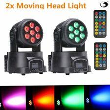 2X DMX512 Moving Heads Stage Bühnenlicht 4 in 1 RGBW Disco Party Lights 9/14 CH