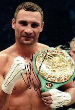 Vitali KLITSCHKO Champion Boxer Signed 12x8 Photo A AFTAL COA Boxing Dr Ironfist