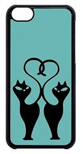 Cats Kitten Car in Teal Case Cover iPhone 4s 5 5s 5c 6 6+ Beautiful Fancy