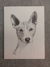 Basenji Pen and Ink Stationary Cards, Note Cards, Greeting Cards. 10 pack.