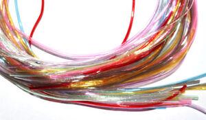Flechtbänder 80cm • Transparent - Opak - Glitter - Flitter - ab 20 Stück