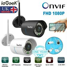 UK 1080P HD WiFi IP Camera Wireless CCTV Cam Night Vision Home Outdoor Security