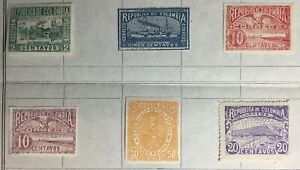 Colombia 1902 Definitives 6 Values MH