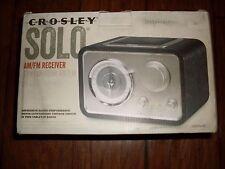 CROSLEY SOLO AM/FM RECEIVER MODEL CR3003A-BK PAR INPUT READY TABLE TOP RADIO