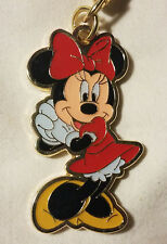 Disney Parks Minnie Mouse Gold Metal Keychain - NEW