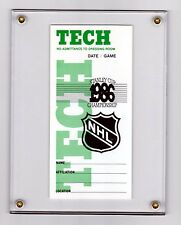 86 STANLEY CUP FINALS TECH STAFF ID CANADIENS FLAMES   FREE SHIP 1/4 IN. LUCITE