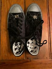 Converse All Star Chuck Taylor Low Top Blue Glitter Shoes Womens Size 8