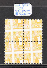 NSW STAMP DUTY 1d BLOCK OF 4 GROSSLY MIS PERFED MINT NO GUM