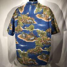Pacific Legend Apparel 2XL Hawaiian Shirt Alligators Birds Camp Shirt Aloha USA