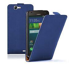 ULTRA Sottile Pelle Blu Accessori per Cellulari Huawei Ascend G7-Case Cover