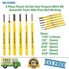 6 Piece Punch Kit Set Gun Firearm AR15 AR Gunsmith Tools Rifle Pins Roll Working