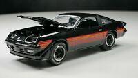 1980 Chevrolet Monza Spyder 1/64 Diecast Car Black Black VHTF REAL RIDERS NICE