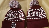 2018 SF GIANTS SANTA CLARA BRONCOS UNIVERSITY  BEANIE CAP HAT SGA SAN FRANCISCO