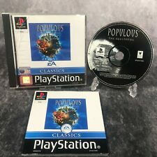 Populous The Beginning PS1 PlayStation 1 PAL Game Complete EA Classic God Sim