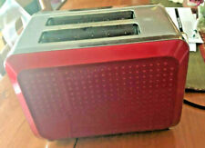 Bella Sensio Electric 2-Slice Toaster Red & Chrome Model Kt-3331 Defrost Euc