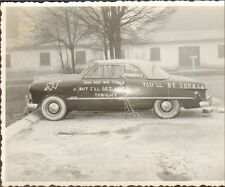 ALLEMAGNE GERMANY ? PHOTO AUTO AMERICAN CAR ? JUST MARRIED 1953