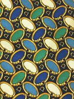 FENDI Gold Rings Luxury Tie 100% Silk Made In Italy