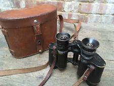 Vintage Lemaire Lumineuse 8x Stereoscopique Fabi Paris Binoculars & Case