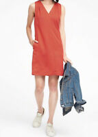 NWT Banana Republic New $128.00 Women Print Pleated-Shoulder Shift Dress Size 14